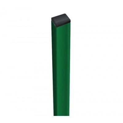 Столб для забора 60х40х1,5 ППл RAL6005 (зеленый) H 2000