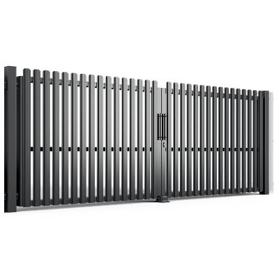 Ворота Распашные полимерное покрытие с наполнением штакетник проем 4 метра